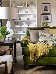 walls green sofa living