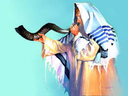 Judeu tocando o shofar