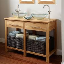 open bathroom vanity cabinet:   l teak bathroom vanity teak vessel