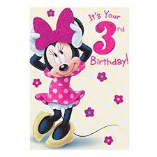 Hallmark Disney Minnie 3rd Birthday Card Sweetest Day - Medium ...