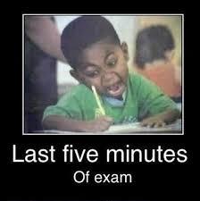 Last five minutes of exam funny memes test kid meme exam school ... via Relatably.com