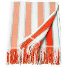 СОЛБЛЕКТ <b>Пляжное полотенце</b> - в полоску оранжевый - IKEA