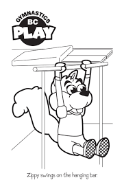 Gymnastics Coloring Sheets Gymnastics Coloring Pages Only