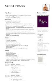 science teacher resume samples   visualcv resume samples databasescience teacher resume samples