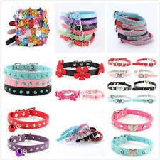 <b>Adjustable PU Leather</b> Small Pet Dog Cat Collar Puppy Multi-Styles ...
