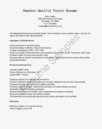 sample resume for qa tester job resume samples sample resume of qa tester