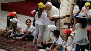 Image result for pope peace children