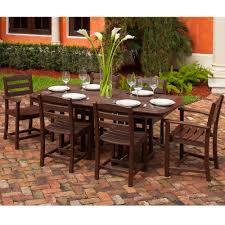 7 piece outdoor dining set:  polywood la casa cafe  piece dining set pw lacasa set