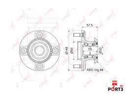 WH-1109 <b>Ступица колеса заднего</b> с ABS LYNX (ЛИНКС авто ...