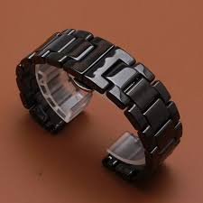 <b>Promotion New replace 22mm</b> Watch Band Ceramic Black Strap for ...
