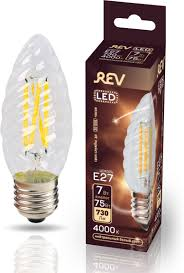 <b>Лампочка REV Deco Premium</b> Filament TC37, Холодный свет, E27 ...