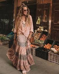 <b>Bohemian style clothing</b>, boho <b>fashion</b> outfit, gypsy skirt, boho tops ...