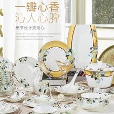 <b>Bone Porcelain</b> Tableware Set Household bowls and dishes ...