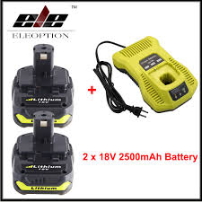2x <b>18V 2500mAh Li ion</b> Replacement Battery For Ryobi RB18L25 ...