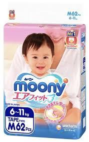 <b>Moony подгузники M</b> (6-11 кг) 62 шт. — купить по выгодной цене ...