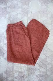 pink <b>linen pants</b> - Gem