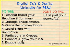 do s don ts when using linkedin for personal branding job search in a previous post in my digital do s don ts series i stated that linkedin is the professional opposite of facebook