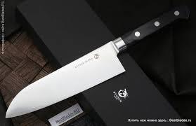 Купить Кухонный <b>нож RYUSEN</b> Blazen Santoku 170 мм за 30 290 ...