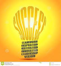 golden success word bulb stock illustration image  golden success word bulb