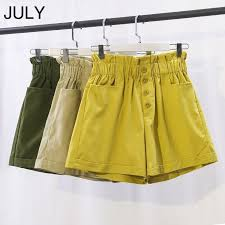JULY Summer Shorts Cotton Retro Korean <b>Women</b> Shorts <b>2019</b> ...