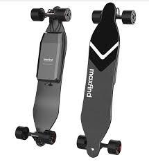 Maxfind 4 Electric Longboard Skateboard <b>Dual Motors Wireless</b> ...