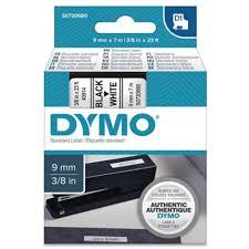 <b>DYMO S0720680 D1</b> Tape 9mm x 7m Black on White