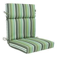 allen + roth Blue <b>Green</b> Linen Stripe <b>High Back</b> Patio <b>Chair</b> Cushion ...