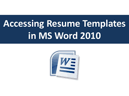 accessing resume templates in word accessing resume templates in ms word