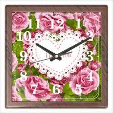 """Часы для офиса c особенными принтами """"розы"""" - <b>Printio</b>"""