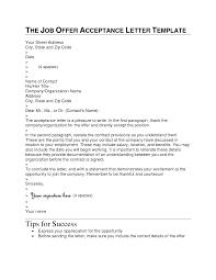 sample of job acceptance letter via email job acceptance email how to write a job offer letter sample cover letter templates