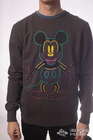 Disney USA vintage neon <b>mickey</b> sweatshrt S — Sneakers-Museum