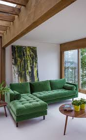 space living room olive: a lush space sven grass green sectional
