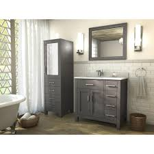bathroom features gray shaker vanity:  art kelia  inch bathroom vanity french gray finish