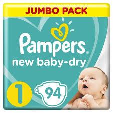<b>Pampers Подгузники New Baby-Dry</b> р.1 (2-5 кг) 94 шт ...