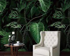 <b>beibehang Custom</b> Photo <b>Wallpaper Tropical</b> Plant Green Leaf Oil ...
