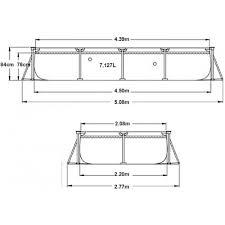 Каркасный <b>бассейн Rectangular Frame</b> 450х220х84см, 7127л ...