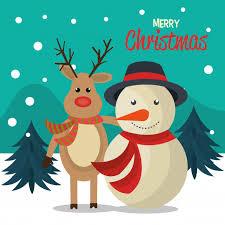 Free Vector | Merry <b>christmas cartoon</b> greeting card <b>design</b>