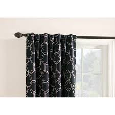 Hidden Tab Curtains Shop Style Selections Barrett 84 In Black Polyester Back Tab Room