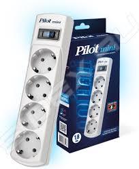 <b>Сетевой фильтр Pilot mini</b> 4 розетки 7м (белый) - купить , скидки ...