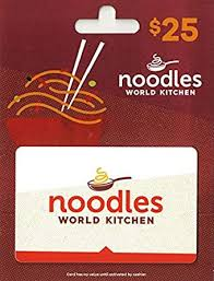 Noodles & Company $25 Gift Card: Gift Cards - Amazon.com