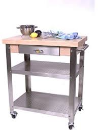 leaf kitchen cart: cucina elegante kitchen cart maple stainless steel quoth x
