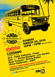 ra sunday school for degenerates the reunion at the surfcomber line up
