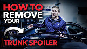 How to REMOVE a Trunk Lip Spoiler AND how to Install an F30 ...