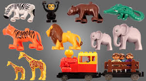 Learn Zoo Animals For Kids With Zebra Tiger Monkey <b>Crocodile</b> ...