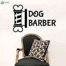 <b>YOYOYU Wall Decal Creative</b> Design Dog Barber Logo Wall Sticker ...