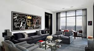 modern apartment living room design ideas with grey sofa cushion and throw pillows also coffee table awesome living room design