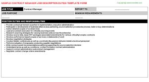 contract manager job description contract manager job description