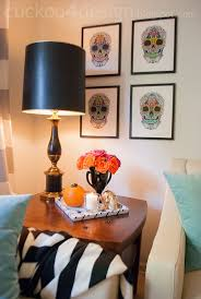 halloween gallery wall decor hallowen walljpg wall decor halloween glam  diy skull wall art for halloween
