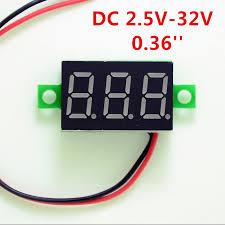 Red LED Display Mini Digital 4.5 v-30v Voltmeter Tester <b>Voltage</b> ...