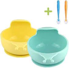 <b>Baby</b> Bowls <b>4pcs</b> Suction <b>Baby</b> weaning Bowl <b>Set</b> - weaning <b>Spoons</b> ...